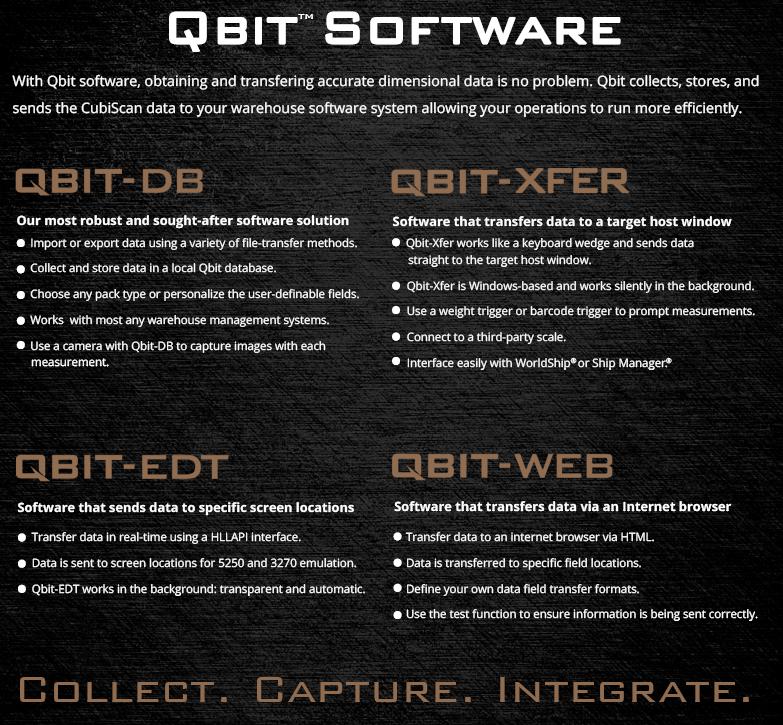 CubiScan Qbit Software