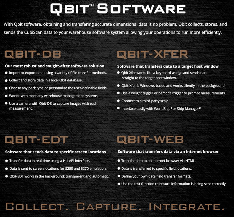 CubiScan Qbit Software
