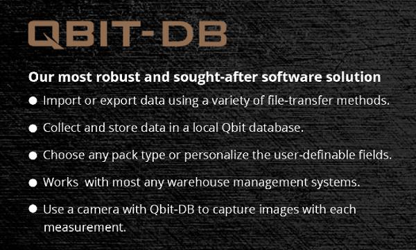 Qbit DB cubing equipment trial software