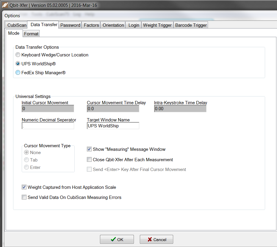 Qbit xfer cubing system software